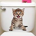 זול מדבקות קיר-מדבקות למקרר מדבקות לשירותים - מדבקות קיר חיות 3D סלון חדר שינה מקלחת מטבח חדר אוכל משרד