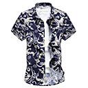 abordables Oxfords para Hombre-Hombre Tallas Grandes Camisa, Cuello Inglés Floral / Manga Corta / Verano