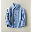 tanie Zestawy ubrań dla chłopców-Dzieci Dla chłopców Aktywny Nadruk Nadruk Długi rękaw Bawełna Koszula