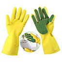 cheap Holiday Party Decorations-1 Pair Washing Cleaning Gloves Kitchen Dish Sponge Fingers Rubber Household