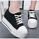 ieftine Flip-Flops de Damă-Pentru femei Pantofi Pânză Primăvară Confortabili Adidași Creepers Vârf rotund Alb / Negru