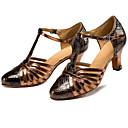cheap Modern Shoes-Women's Modern Shoes PU Heel Slim High Heel Dance Shoes Black / Gold / Performance / Practice