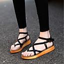 cheap Women's Sandals-Women's Shoes Synthetic Microfiber PU Summer Comfort Sandals Flat Heel White / Black / Brown