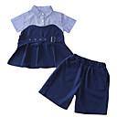 tanie Sukienki dla dziewczynek-Dzieci Dla dziewczynek Podstawowy Solidne kolory Krótki rękaw Koszula