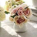 preiswerte Hochzeit Dekorationen-Künstliche Blumen 8.0 Ast Hochzeit / Simple Style Pfingstrosen / Ewige Blumen Tisch-Blumen