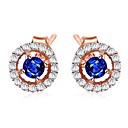 cheap Earrings-Cubic Zirconia Stud Earrings - Fashion Rose Gold For Wedding / Daily