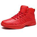 זול סניקרס לגברים-בגדי ריקוד גברים PU סתיו נוחות נעלי אתלטיקה כדורסל אדום / שחור לבן