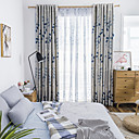 cheap Blackout Curtains-Blackout Curtains Drapes Bedroom Floral Polyester Blend Printed