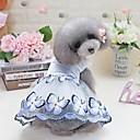 preiswerte Hundekleidung-Hunde Katzen Pelzige Kleintiere Haustiere Kleider Hundekleidung Blume Perle Schleife Blau Rosa 100% Polyester Kostüm Für Haustiere
