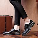 זול נעלי אוקספורד לגברים-בגדי ריקוד גברים PU קיץ נוחות נעלי אוקספורד אפור / ירוק / Wine
