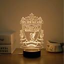 זול מנורות שולחן-1set אור תלת ממדי לבן חם USB בטיחות / יצירתי / הפגת מתחים וחרדה 5 V