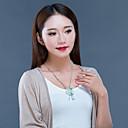זול שרשרת אופנתית-בגדי ריקוד נשים ירקן שרשראות תליון - פרחוניים / בוטניים, פרח אלגנטית שקוף 52 cm שרשראות תכשיטים עבור מתנה, יומי
