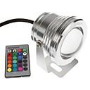 abordables Bombillas LED-YouOKLight 1pc 10 W Luces Bajo el Agua Control remoto / Decorativa RGB 12 V Piscina 1 Cuentas LED