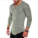 preiswerte Einbauleuchten-Herrn Solide - Grundlegend Baumwolle T-shirt, Rundhalsausschnitt / Langarm
