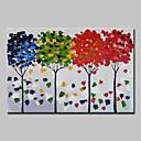 baratos Pinturas Florais/Botânicas-Pintura a Óleo Pintados à mão - Abstrato / Floral / Botânico Vintage / Tradicional Incluir moldura interna / Lona esticada