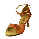 abordables Adhesivos de Pared-Mujer Zapatos de Baile Latino / Zapatos de Salsa Satén / Seda Sandalia / Tacones Alto Hebilla / Corbata de Lazo Tacón Personalizado