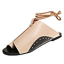 cheap Women's Sandals-Women's Shoes PU(Polyurethane) Spring / Summer Comfort Sandals Flat Heel Black / Beige / Brown / Wedge Heels