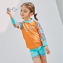 cheap Wetsuits, Diving Suits & Rash Guard Shirts-SABOLAY Girls' Rash Guard Dive Skin Suit Detachable Cap, Comfortable Polyester / Spandex / Chinlon Long Sleeve Swimwear Beach Wear Swimwear Solid Colored Swimming / Outdoor Exercise / Watersports