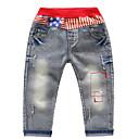ieftine Pantaloni Băieți-Copii Băieți De Bază Mată Poliester Pantaloni Albastru Deschis 100
