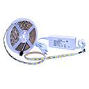 abordables Juego de Joyas-JIAWEN 5 m Sets de Luces 300 LED 5050 SMD 1 adaptador de 12V 2A Blanco Cálido / Blanco Fresco / Blanco Natural Cortable / Impermeable / Auto-Adhesivas 100-240 V 1 juego