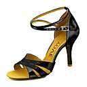 cheap Modern Shoes-Women's Latin Shoes / Ballroom Shoes Sparkling Glitter Sandal Sparkling Glitter / Buckle Customizable Dance Shoes Silver / Blue / Gold / Leather / Leather