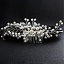 cheap Wedding Flowers-Pearl Hair Combs with Crystal 1 Piece Wedding / Special Occasion Headpiece