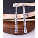 tanie Zestawy biżuterii-Damskie Cyrkonia Geometric Shape Kolczyki sztyfty Kolczyki drop - Moda, Elegancja Biały Na Ślub Party Wieczór
