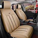 זול כיסויי למושבים לרכב-ODEER כריות למושבי הרכב כיסויים בז' טֶקסטִיל / עור PU נפוץ for אוניברסלי כל השנים כל הדגמים
