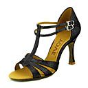 preiswerte Latein Schuhe-Damen Schuhe für den lateinamerikanischen Tanz / Ballsaal Glitzer / Kunstleder Sandalen Schnalle Maßgefertigter Absatz Maßfertigung Tanzschuhe Silber / Blau / Gold / Leder / Leder