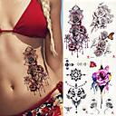 abordables Tatuajes Temporales-Adhesivo / Pegatina tatuaje brazo Los tatuajes temporales 4 pcs Series de Flor Artes de cuerpo