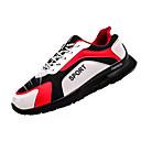 זול נעלי ספורט לגברים-בגדי ריקוד גברים רשת / PU קיץ נוחות נעלי אתלטיקה ריצה קולור בלוק לבן / שחור