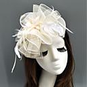 preiswerte Haar Accessoires-Feder / Netz Fascinatoren / Hüte / Kopfbedeckung mit Feder / Blumig / Blume 1pc Hochzeit / Besondere Anlässe Kopfschmuck