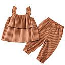 povoljno Džemperi i kardigani za djevojčice-Djeca Djevojčice Osnovni Prugasti uzorak Bez rukávů Komplet odjeće