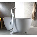 abordables Utensilios de cocina-Grifo de bañera - Moderno Estilo de Soporte Cromo Montado en el suelo Válvula Cerámica