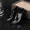 זול סניקרס לגברים-בגדי ריקוד גברים נעלי נוחות עור סתיו נעלי אוקספורד שחור / אדום