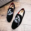 olcso Férfi bebújós cipők és papucsok-Férfi Formális cipők Fordított bőr Ősz Papucsok & Balerinacipők Fekete / Piros / Esküvő / Party és Estélyi