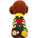 ieftine Îmbrăcăminte Câini-Câini / Pisici / Animale de Companie Ținute / Pantaloni / Blugi Îmbrăcăminte Câini Dungi / Bloc Culoare / Iubire Galben / Fucsia Bumbac