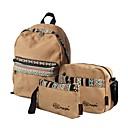ieftine Seturi Genți-Pentru femei Genți pânză Seturi de sac Set de pungi 3 buc Pană / Blană / Fermoar Geometric Albastru piscină / Maro
