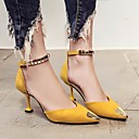 cheap Ombre Hair Weaves-Women's Shoes Nubuck leather Spring / Fall Comfort / Basic Pump Heels Stiletto Heel Black / Yellow / Green