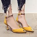 זול תוספות שיער אומברה-בגדי ריקוד נשים נעליים עור נובוק אביב / סתיו נוחות / בלרינה בייסיק עקבים עקב סטילטו שחור / צהוב / ירוק
