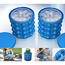 cheap Camp Kitchen-Ice Bucket & Wine Cooler Stretchy Silicon Outdoor for Camping Travel Blue