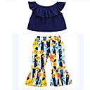 ieftine Set Îmbrăcăminte Bebeluși-Bebelus Fete De Bază Zilnic Mată Manșon scurt Regular Poliester Set Îmbrăcăminte Negru 80 / Copil