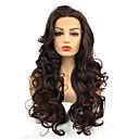 cheap Synthetic Lace Wigs-Synthetic Lace Front Wig Curly Burgundy Middle Part Synthetic Hair 100% kanekalon hair Burgundy Wig Women's Long Lace Front / Yes