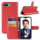 זול מגנים לטלפון & מגני מסך-מגן עבור Huawei Honor 10 ארנק / מחזיק כרטיסים / נפתח-נסגר כיסוי מלא אחיד קשיח עור PU ל Huawei Honor 10