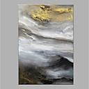olcso Olajfestmények-Hang festett olajfestmény Kézzel festett - Absztrakt Modern Vászon