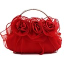 cheap Party Headpieces-Women's Bags Silk Evening Bag Lace Champagne / Red / Purple
