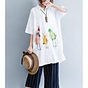 preiswerte Moderinge-Damen Tier Baumwolle Hemd, Hemdkragen Lose