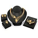 baratos Anéis-Mulheres Conjunto de jóias - Pena Importante, Vintage, Fashion Incluir Dourado Para Cerimônia Carnaval