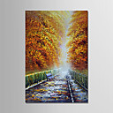cheap People Paintings-Oil Painting Hand Painted - Landscape Modern Stretched Canvas