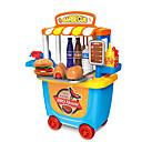baratos Acessórios de Cozinha & Comida de Brinquedo-Conjuntos Toy Cozinha BBQ House Interação pai-filho ABS + PC Crianças Dom 33 pcs